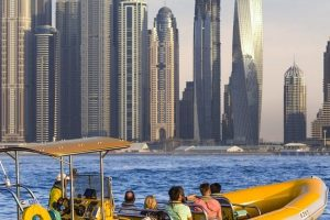 Guided Boat Tour of Dubai Marina, Palm Jumeirah, Atlantis and Burj Al Arab